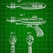 Toy Ray Gun Patent 1952 - Green Poster