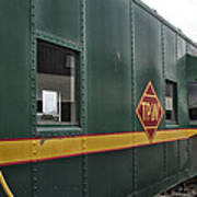 Tpw Rr Caboose Side View Poster