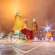 Tulsa City Skyline Around Downtown Streets Poster