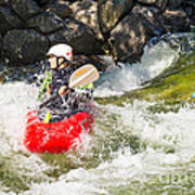 Two Whitewater Kayaks Poster