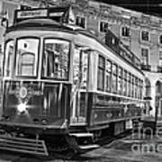 Typical Lisbon Tram In Commerce Square Poster