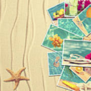 Vacation Postcards Poster by Amanda Elwell