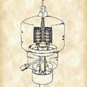 Vacuum Tube Patent 1942 - Vintage Poster