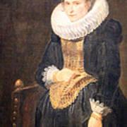 Van Dyck's Portrait Of A Flemish Lady Poster