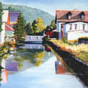 View Along The Canal Poster
