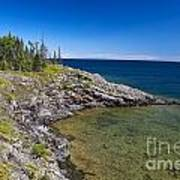 View Of Rock Harbor And Lake Superior Isle Royale National Park Poster