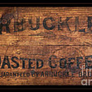 Vintage Arbuckles Roasted Coffee Sign Poster