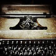 Vintage Olympia Typewriter Poster