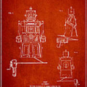 Vintage Toy Robot Patent Drawing From 1955 Poster