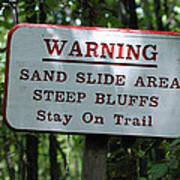 Warning Sign Poster