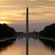 Washington Monument Sunrise Poster