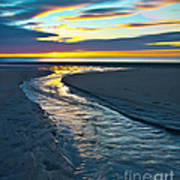 Wells Beach Maine Sunrise Poster