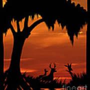 Wetland Wildlife - Sunset Sky Poster