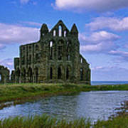 Whitby Abbey Poster by Trevor Kersley