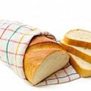 White Bread With Slices Poster