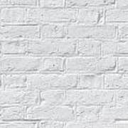 White Brick Wall Poster
