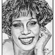 Whitney Houston In 1992 Poster