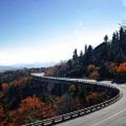 Winding Curve At Blue Ridge Parkway Poster