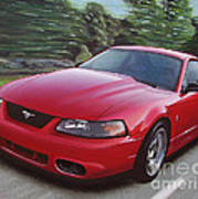 2001 Ford Mustang Cobra Poster