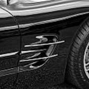 2002 Corvette Ls1 5 7ltr B W Poster