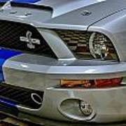 2008 Ford Mustang Shelby Grill Headlight Poster