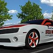 2010 Camaro Indy Pace Car Poster