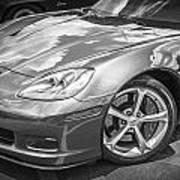2010 Chevy Corvette Grand Sport Bw Poster