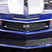 2012 Camaro Blue And White Ss Camaro Poster