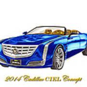 2014 Cadillac Ciel Concept Poster