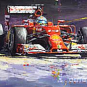 2014 Ferrari F14t Fernando Alonso  Poster