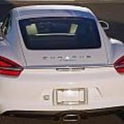 2014 Porsche Cayman White Poster