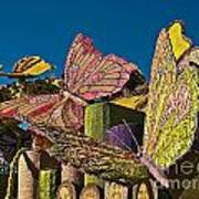 2015 Rose Parade Float Of Butterflies 15rp045 Poster