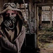 2050 Post Apocalyptic Scene Poster