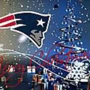 New England Patriots Poster by Joe Hamilton