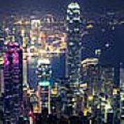 Hong Kong Panorama From Peak Poster