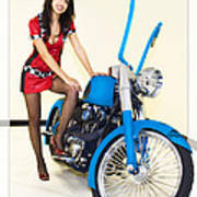 Models And Motorcycles Poster