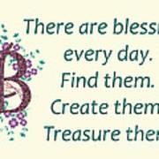 223- Blessings Poster