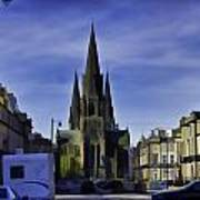 View Of Episcopal Cathedral In Edinburgh Poster