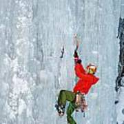 Ice Climbing Poster