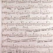 Handwritten Sheet Music, Music Notes Poster