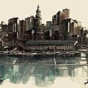 Boston Skyline Poster