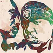 2Pac Biggie smalls Modern pop art  poster Poster