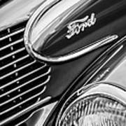 1939 Ford Woody Wagon Side Emblem Poster