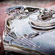 1948 Jaguar Mark Iv Drophead Coupe Hood Ornament Poster