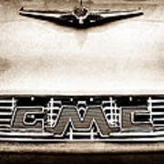 1956 Gmc 100 Deluxe Edition Pickup Truck Hood Ornament - Grille Emblem Poster