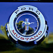 1965 Shelby Prototype Ford Mustang Emblem Poster by Jill Reger