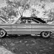 1967 Plymouth Belvedere Gtx 440 Painted Bw Poster