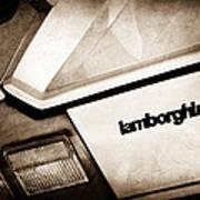 1982 Lamborghini Countach 5000s Taillight Emblem Poster