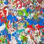 Abstract Colorful Painting Background Poster