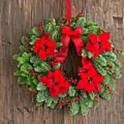 Advent Wreath With Winter Rose Poster
